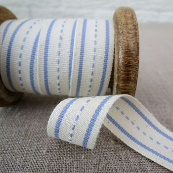 Ebony and Ivory Ribbon ~ Blue Nights