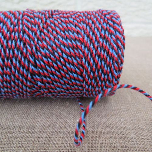 Beautiful Bakers Twine ~ Navy, Sky Blue and Red