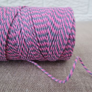 Beautiful Bakers Twine ~ Pink and Slate Grey