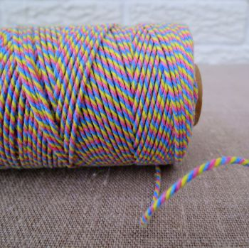 Beautiful Bakers Twine ~ Pink, Yellow and Sky Blue