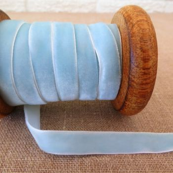 May Arts Velvet Ribbon ~ 10mm ~ Light Blue