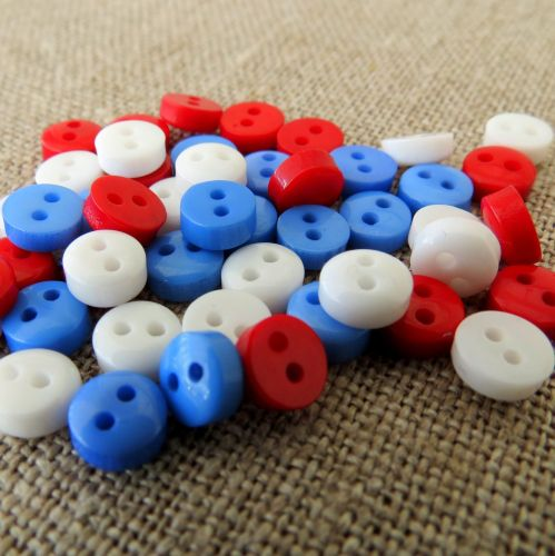 Teeny Buttons ~ Nautical Mix