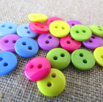 Small Buttons ~ Bright and Beautiful Mix