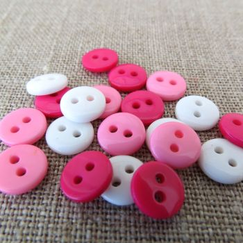 Small Buttons ~ Pretty Pink Mix