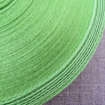 Cotton Herringbone Webbing ~ Green