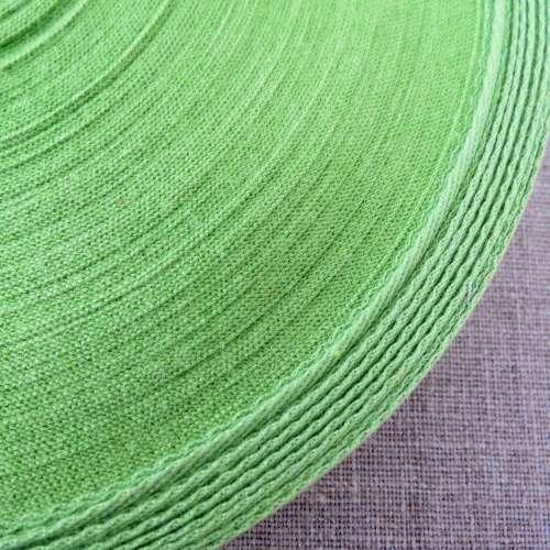 Cotton Herringbone Webbing ~ Green