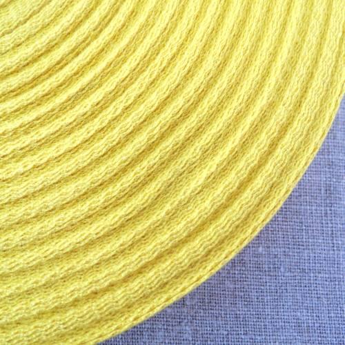 Cotton Herringbone Webbing ~ Yellow