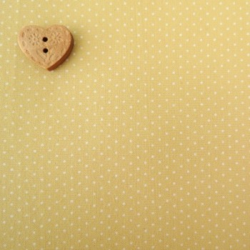 Sevenberry Fabric ~ Pin Dot in Custard Yellow