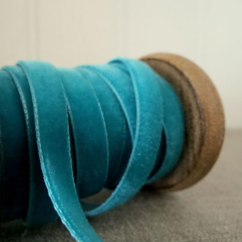 Berisfords Velvet Ribbon ~ Teal