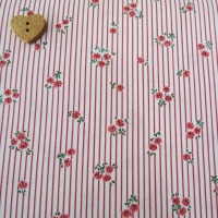Sevenberry Fabric ~ Mini Sprig and Stripe in Pink