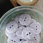 Polka Dot Buttons ~ Mauve