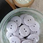 Mauve Stripey Buttons