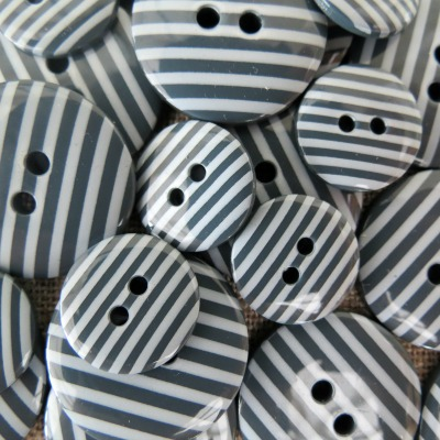 Slate Grey Stripey Buttons