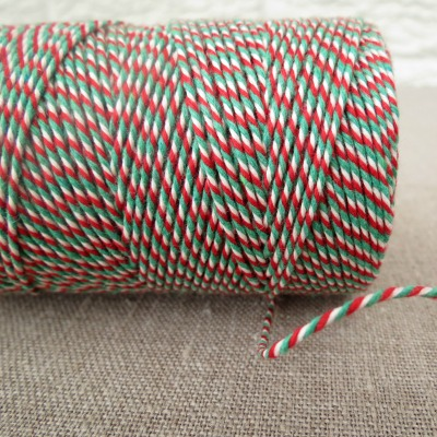 Beautiful Bakers Twine ~ Red, White and Green