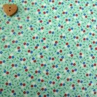 Robert Kaufman Fabrics ~ Lazy Daisy Baskets 3 ~ Floret Aloe