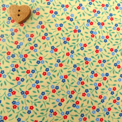 Robert Kaufman Fabrics ~ Lazy Daisy Baskets 3 ~ Floret Screamin' Yellow