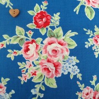 Lecien Fabric ~ Flower Sugar ~ Large Roses Blue