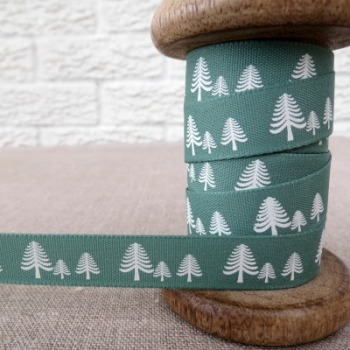 Berisfords Ribbon ~ Festive Forest ~ Green