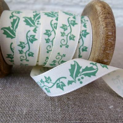 Berisfords Ribbon ~ Holly and Ivy ~ Green