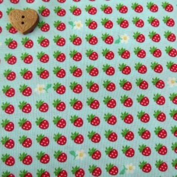 Sevenberry Fabric ~ Mini Strawberries Blue