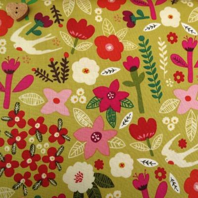 Windham Fabrics ~ Petite Fleur Organic ~ Swallow Garden Citron