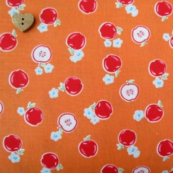 Lecien Fabric ~ Flower Sugar ~ Apples Orange