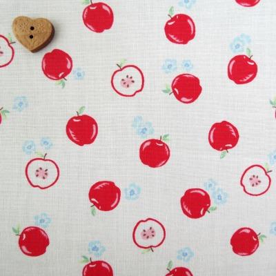 Lecien Fabric ~ Flower Sugar ~ Apples White