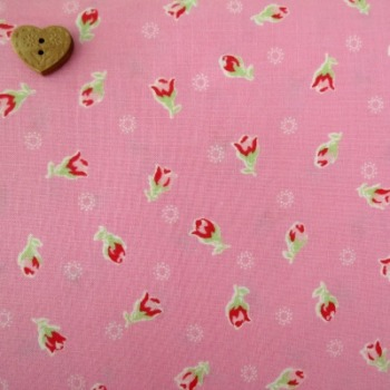 Lecien Fabric ~ Flower Sugar ~ Rosebuds Pink