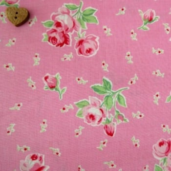 Lecien Fabric ~ Flower Sugar ~ Spray Roses Pink