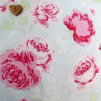 P & B Textiles ~ Ballet Rose ~ Large Roses Blue