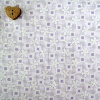 Robert Kaufman Fabrics ~ Penny and Friends ~ Floral Crosshatch Lavender