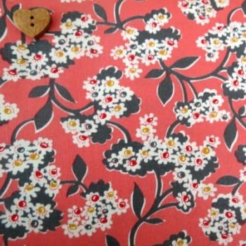 Windham Fabrics ~ Mimosa ~ Blossoms in Coral