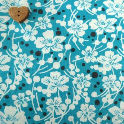 Windham Fabrics ~ Mimosa ~ Flowers in Aqua