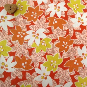 Windham Fabrics ~ Mimosa ~ Leaves and Berries in Orange