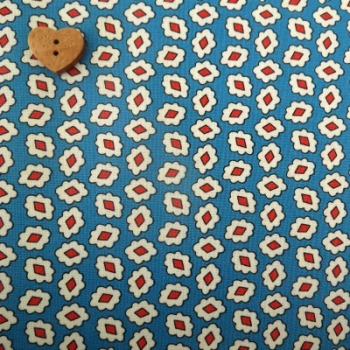 Windham Fabrics ~ Playdate ~ Diamond Flower Blue
