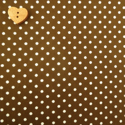 Sevenberry Fabric ~ Polka Dot in Chocolate Brown
