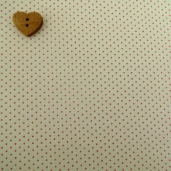 Sevenberry Fabric ~ Pin Dot in Ivory with Red Spots