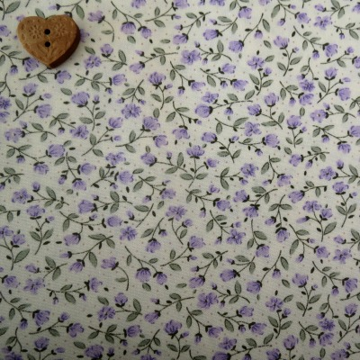 Sevenberry Fabric ~ Stem Flower in Purple