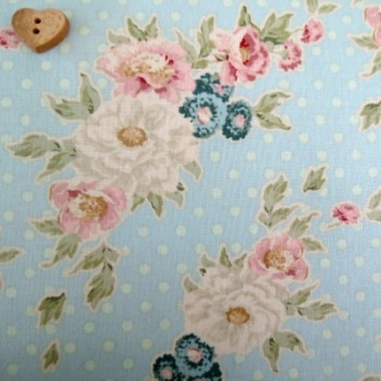 Tilda Fabric ~ Cybill Powder Blue