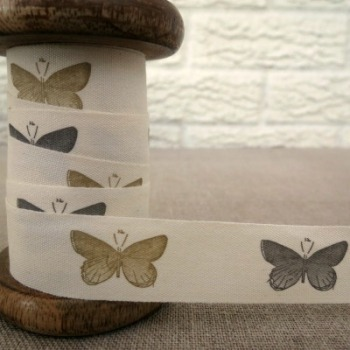 May Arts Cotton Ribbon ~ Butterflies