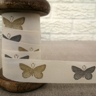 May Arts Cotton Ribbon ~ Butterflies