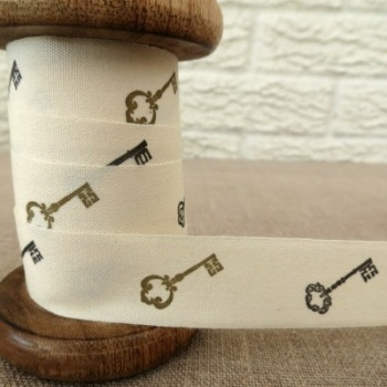 May Arts Cotton Ribbon ~ Keys