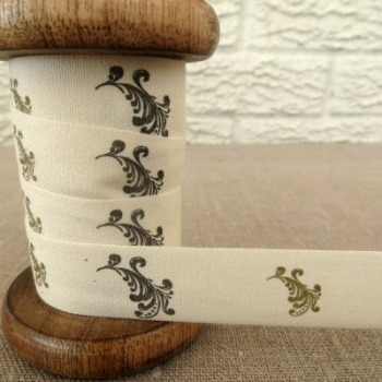 May Arts Cotton Ribbon ~ Scrolls