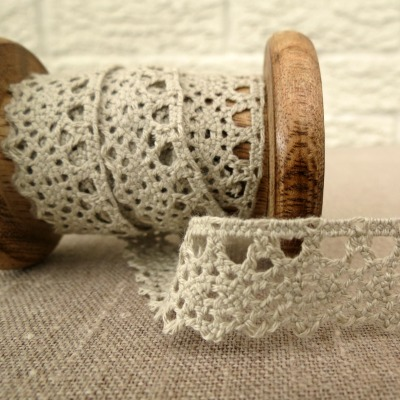 Berties Bows ~ 20mm Scalloped Lace ~ Poridge