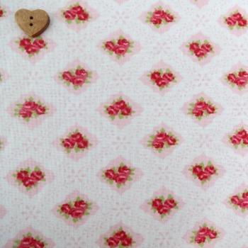 Moda Fabric ~ Ambleside ~ Eyelet Roses Blush Pink