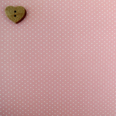 Sevenberry Fabric ~ Pin Dot in Baby Pink