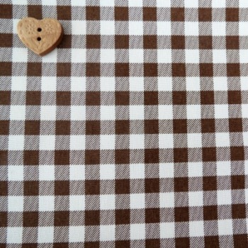 Sevenberry Fabric ~ Gingham in Chocolate Brown
