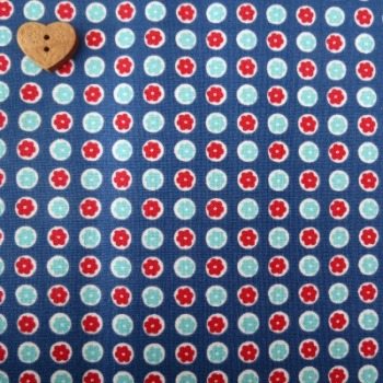 Penny Rose Fabrics ~ 30's Minis ~ Dots Blue