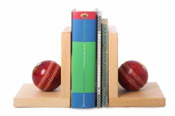 Cricket Ball Book Ends