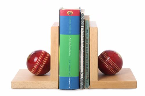 Cricket Ball Book Ends
